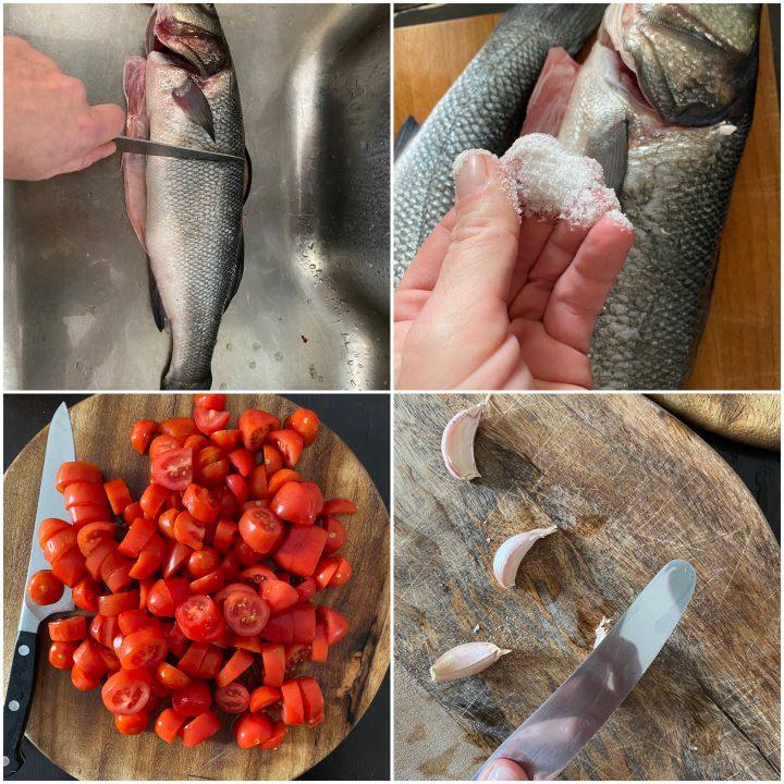 spigola all'acqua pazza ricetta pesce all'acqua pazza passo passo 1