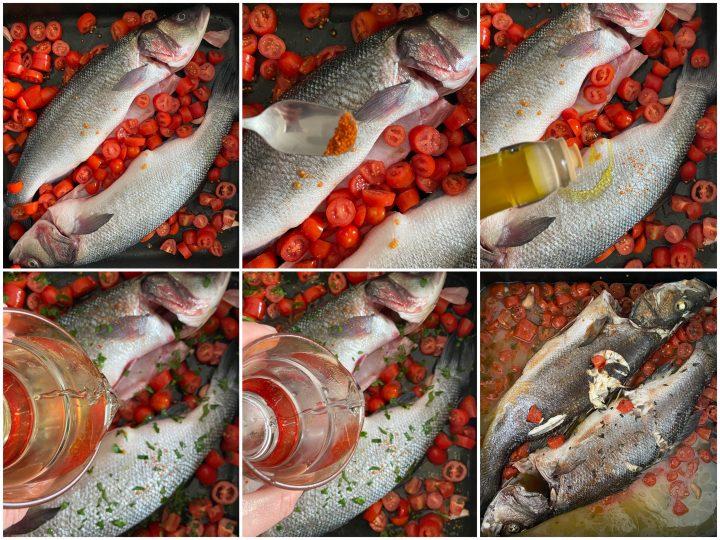 spigola all'acqua pazza ricetta pesce all'acqua pazza passo passo 2