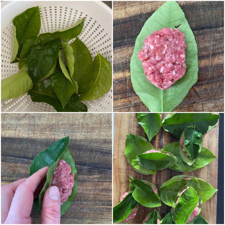 polpette in foglie di limone passo passo 2