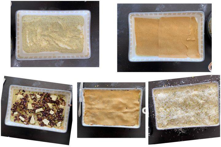Lasagne pistacchio, radicchio e taleggio PASSO PASSO 3