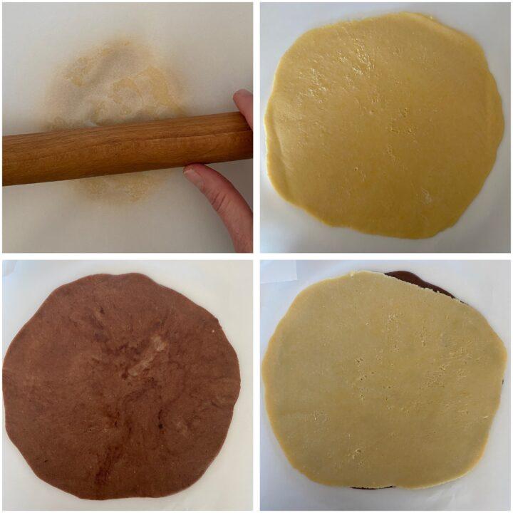 biscottini bicolore passo passo