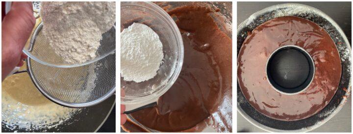 ciambella integrale al cacao passo passo 2