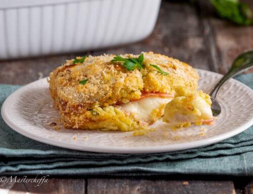 Gateau di patate prosciutto e formaggio