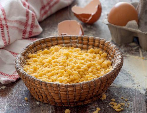 Come fare i grattini, ricetta pastina fresca all'uovo