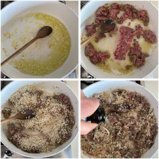 risotto carne tritata e pistacchi passo passo