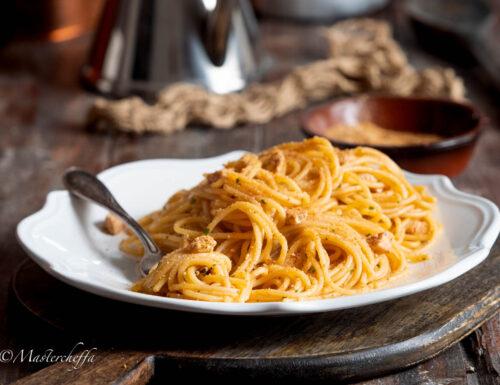 Spaghetti con pesce spada alla siciliana
