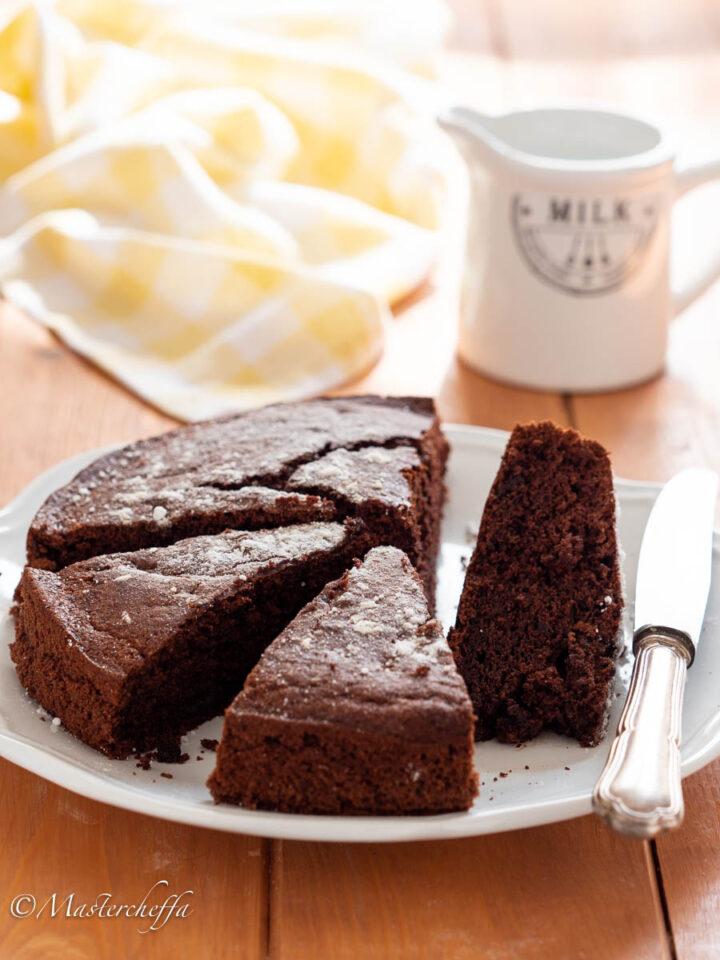 torta agli albumi e cacao