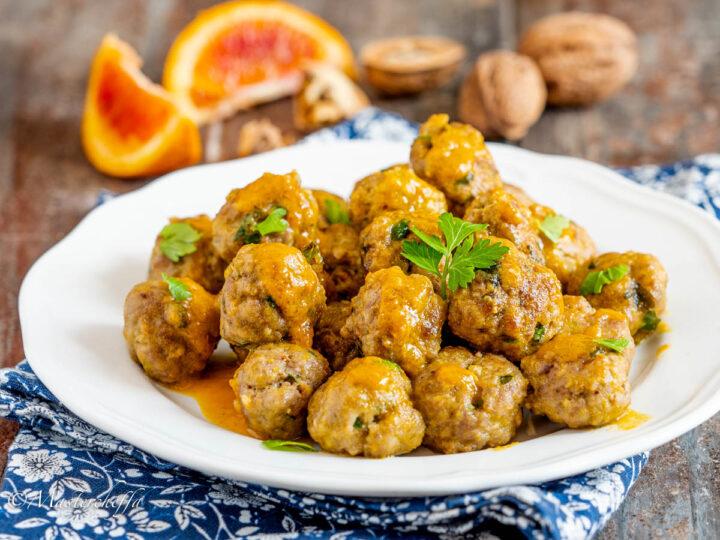 Polpette di carne con le noci all'arancia-2