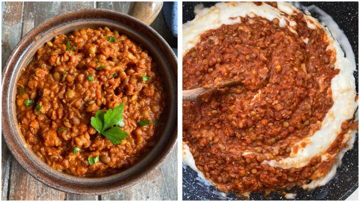 lasagne alle lenticchie passo passo