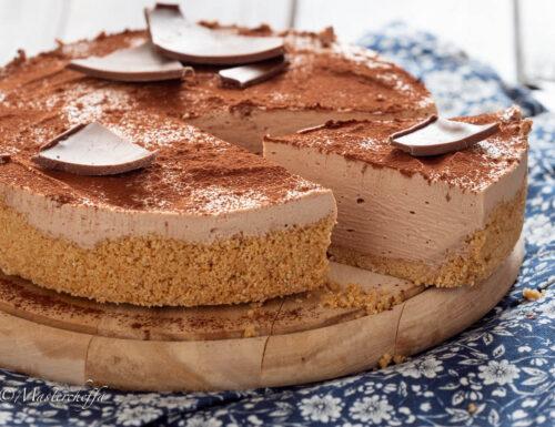 Cheesecake al cioccolato al latte