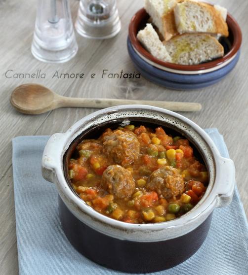zuppa di verdure con polpettine 1
