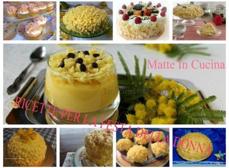 Ricette dolci per la festa della donna