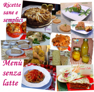 Collage menu senza latte