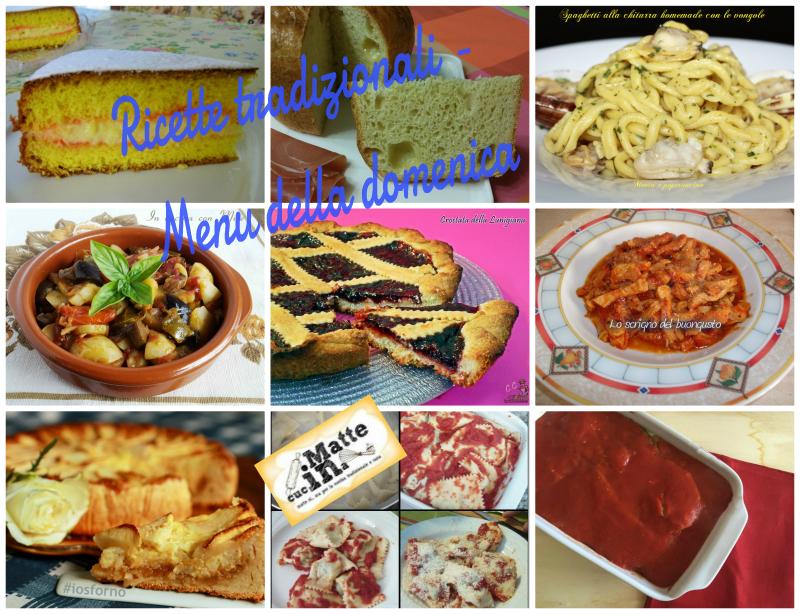 Ricette tradizionali - Menu della domenica