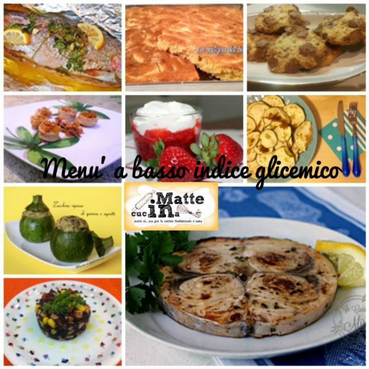 menu' a basso indice glicemico