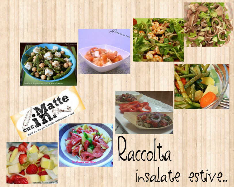 Raccolta insalate estive