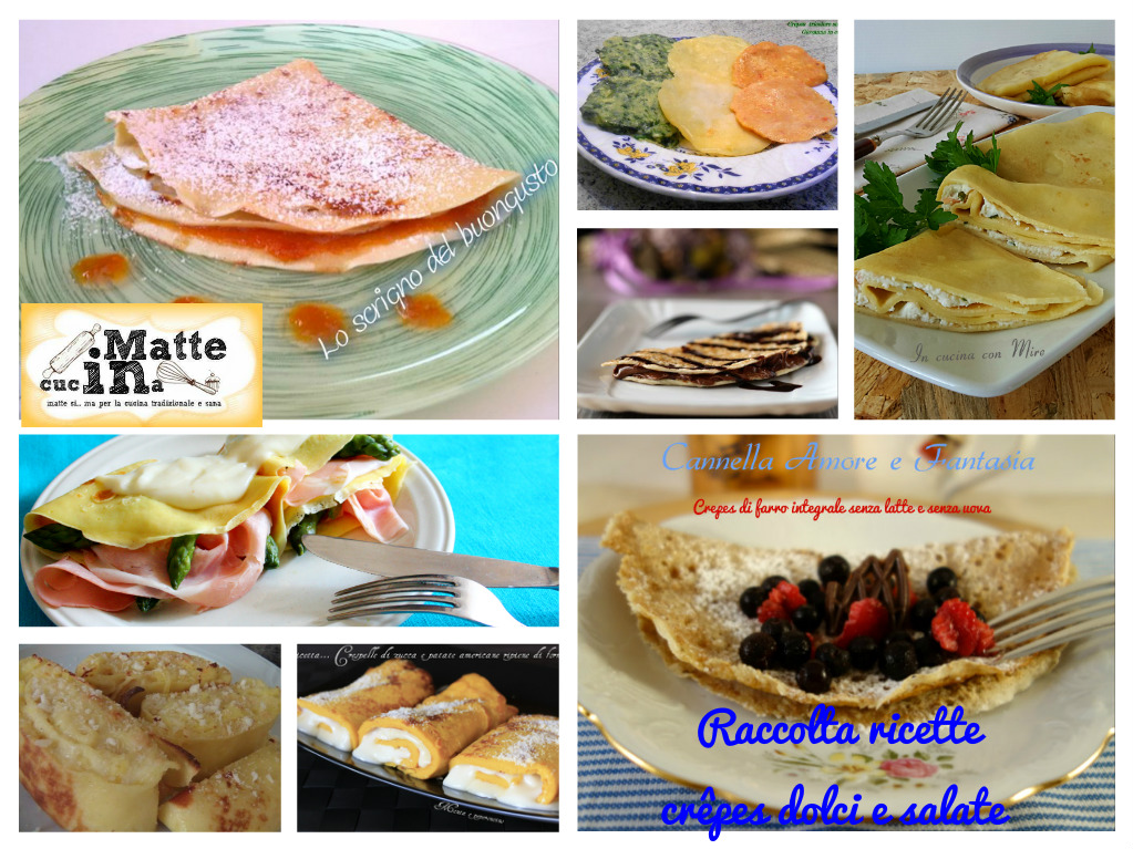 Raccolta ricette crêpes dolci e salate