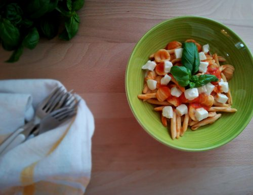 Maritati rustici al pomodoro fresco e mozzarella