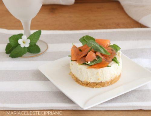 Mini cheesecake salmone e rucola
