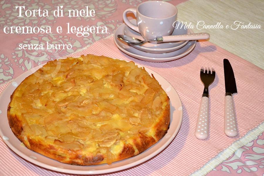 Torta di mele cremosa e leggera \u2013 ricetta senza burro