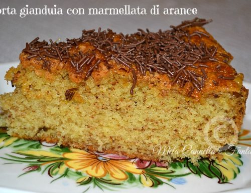 Torta gianduia con marmellata di arance senza burro