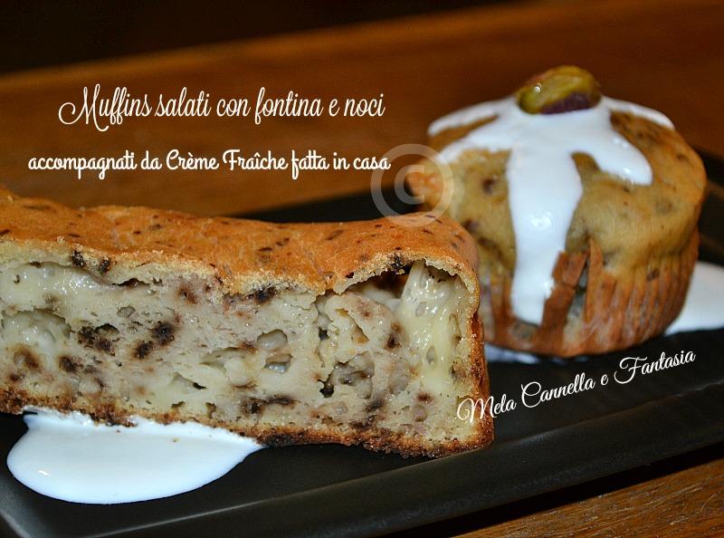 muffins noci e fontina