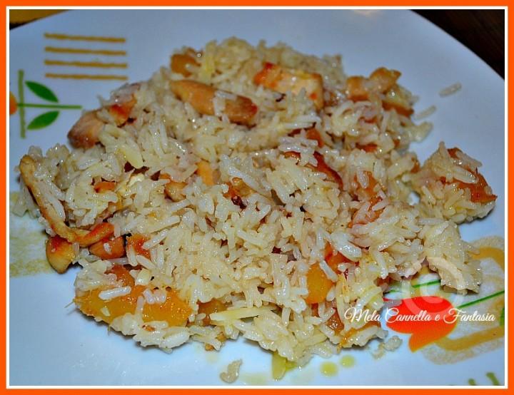 risotto pollo e ananas