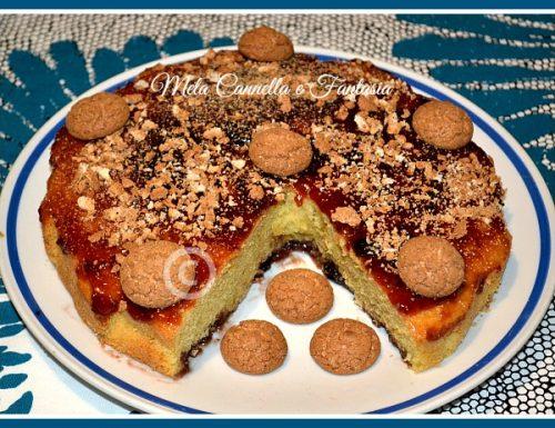 Torta con marmellata di ciliegie e amaretti