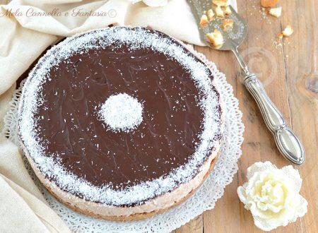 Cheesecake cocco e cioccolato - dessert senza cottura