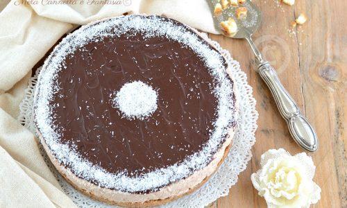 Cheesecake cocco e cioccolato – dessert senza cottura