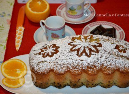 Plumcake all'arancia con scaglie di cioccolato fondente