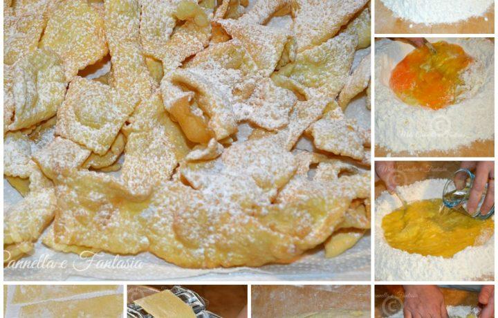 Le Chiacchiere di Carnevale (ricetta senza burro nè olio)