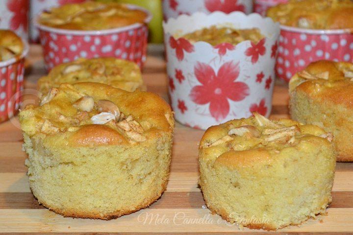 muffins con cuore di mele