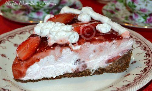 Cheesecake con fragole e ricotta senza cottura né gelatina
