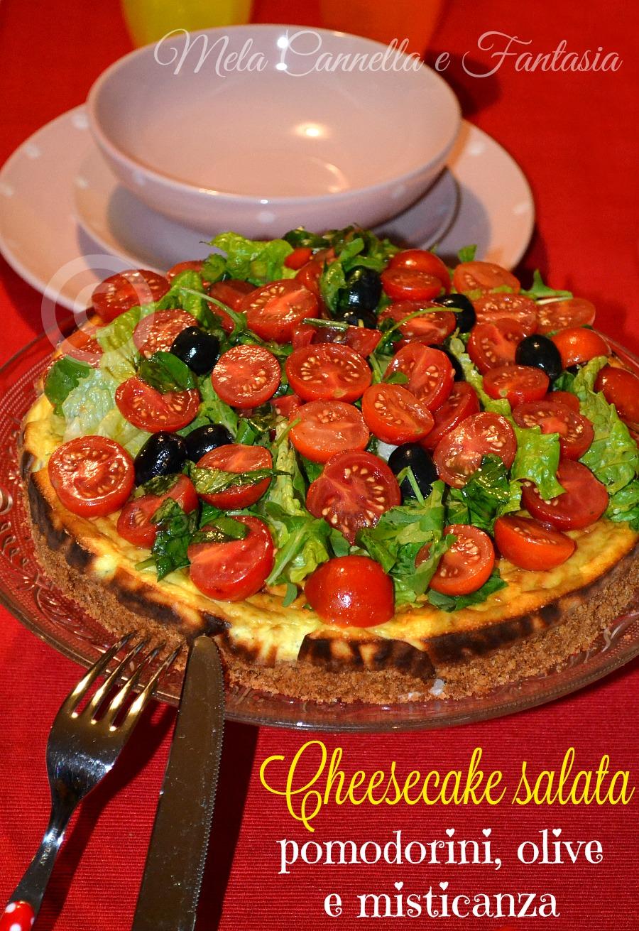 cheesecake pomodori e olive