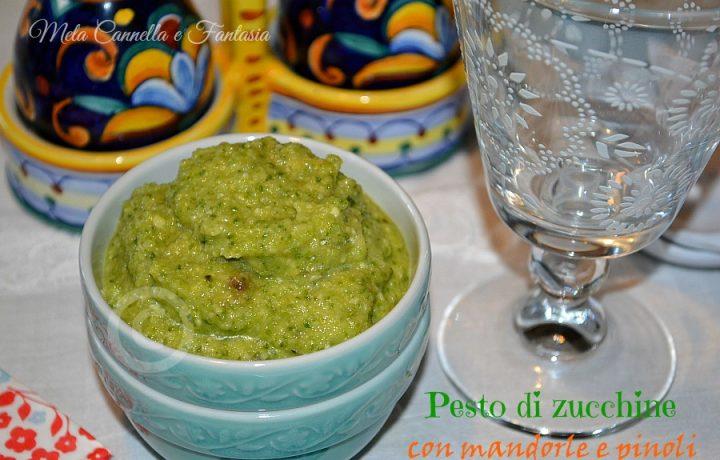 Pesto di zucchine con mandorle e pinoli