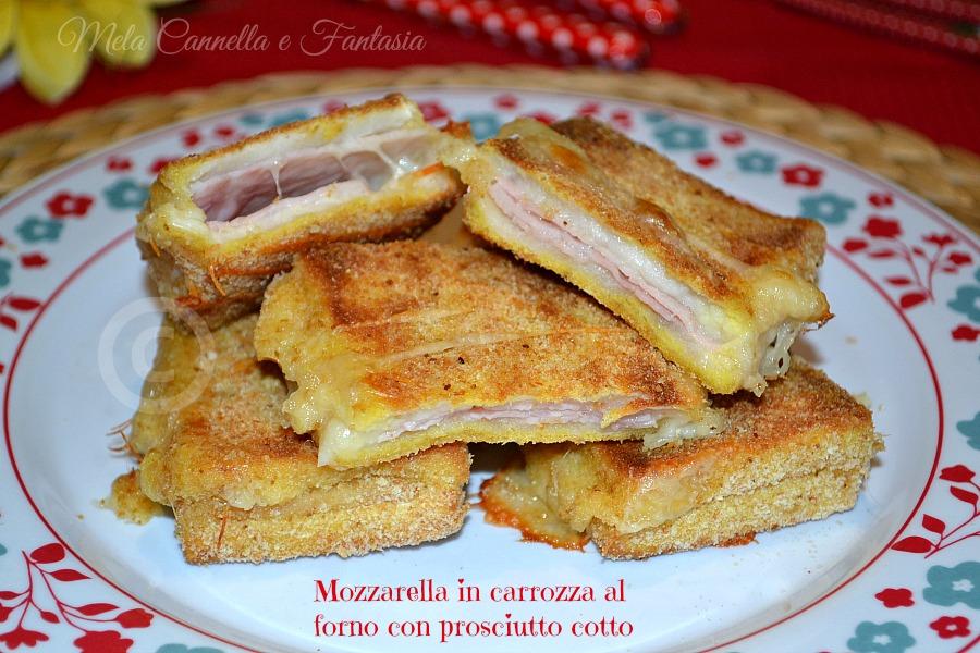 Mozzarella in carrozza al forno con prosciutto cotto for Ricette mozzarella in carrozza al forno
