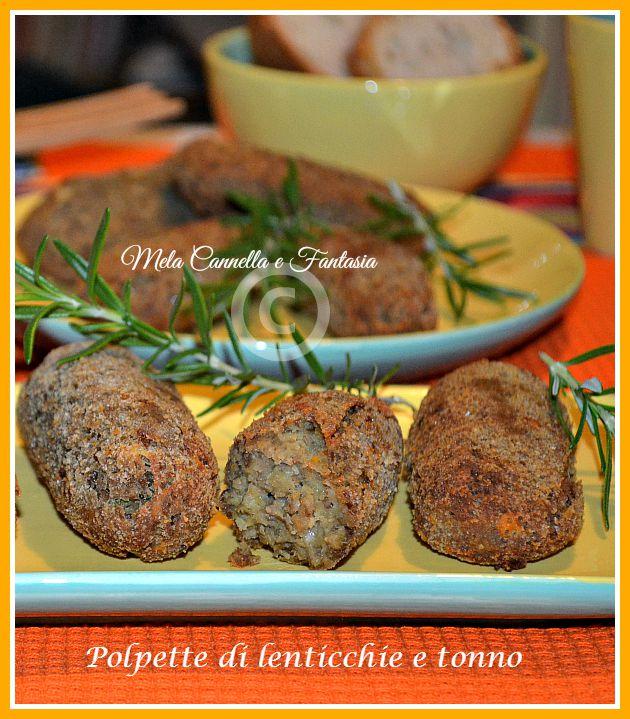Polpette di lenticchie e tonno (ricetta light)