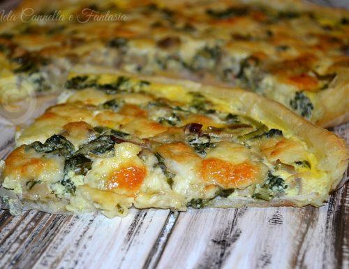 Quiche con cicoria, funghi e mozzarella – ricetta facile