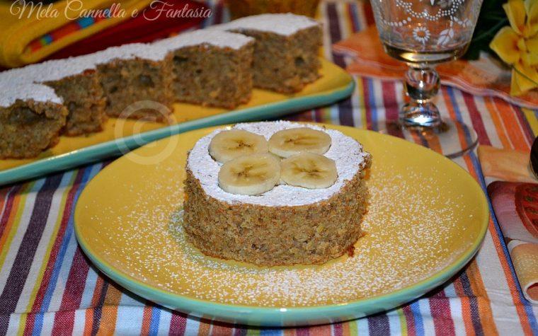 Torta integrale con banana e cannella (ricetta light, senza burro)