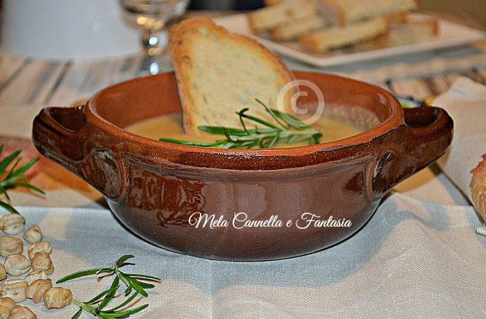 Zuppa di ceci, patate e funghi porcini