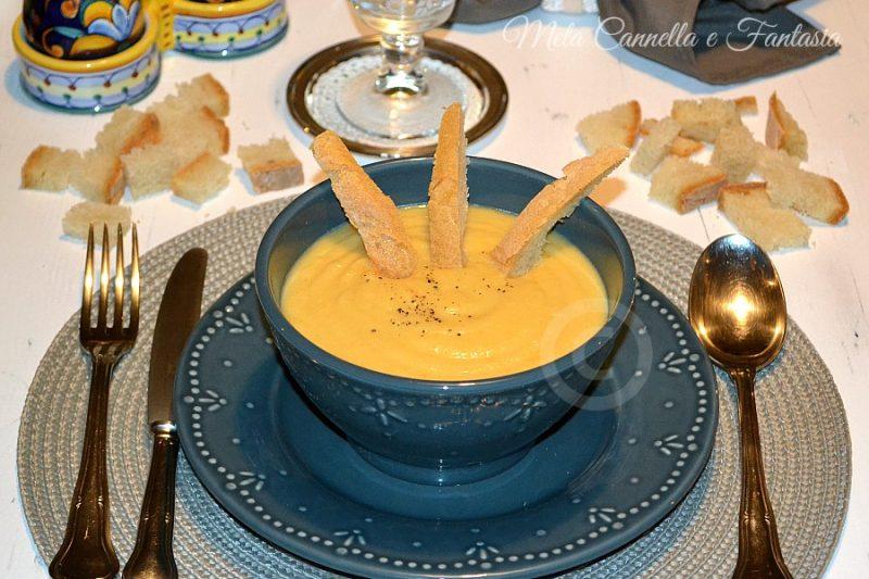 Vellutata di zucca patate e cavolfiore facile e gustosa