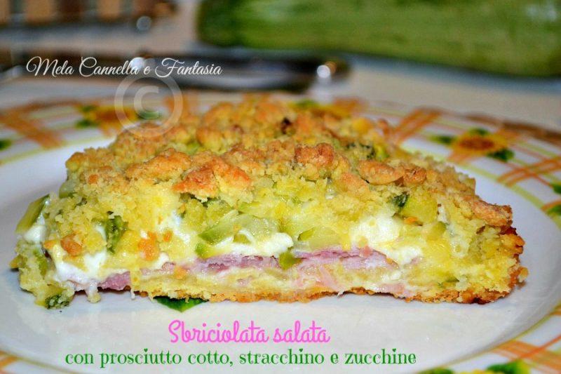 Sbriciolata salata con prosciutto cotto, stracchino e zucchine