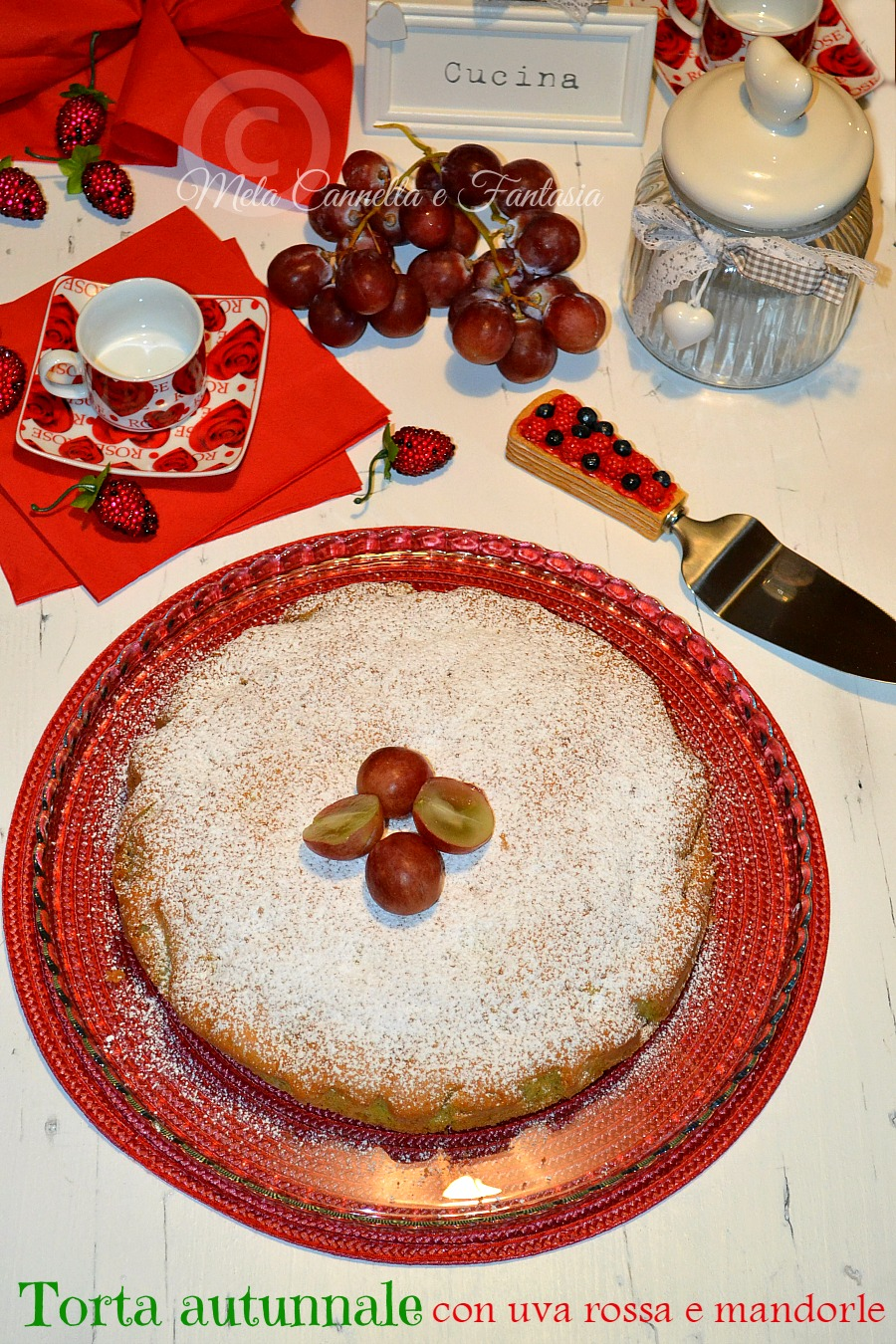 torta uva e mandorle