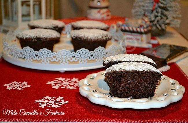 Muffins al cacao con torrone