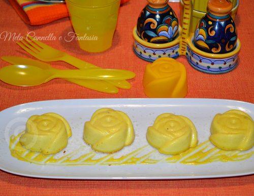 Sformatini di parmigiano reggiano con salsa al curry fatta in casa