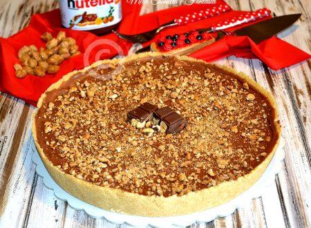 Cheesecake alla Nutella con arachidi pralinate (senza cottura)