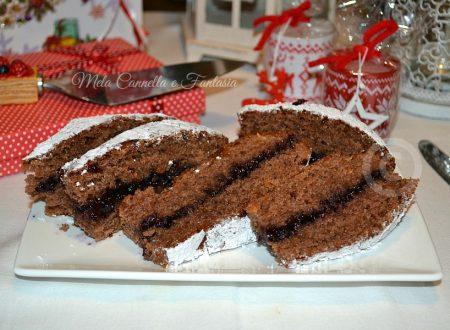 Stella di Natale vegana con marmellata di ribes