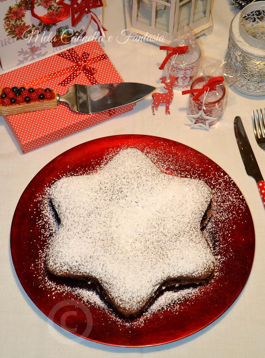 Torta A Forma Di Stella Di Natale.Stella Di Natale Vegana Con Marmellata Di Ribes Senza Uova