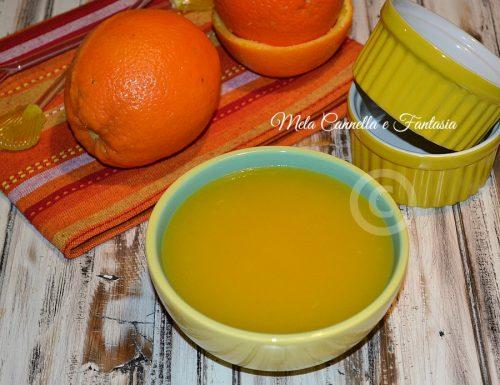Crema all'arancia, senza uova e senza latte